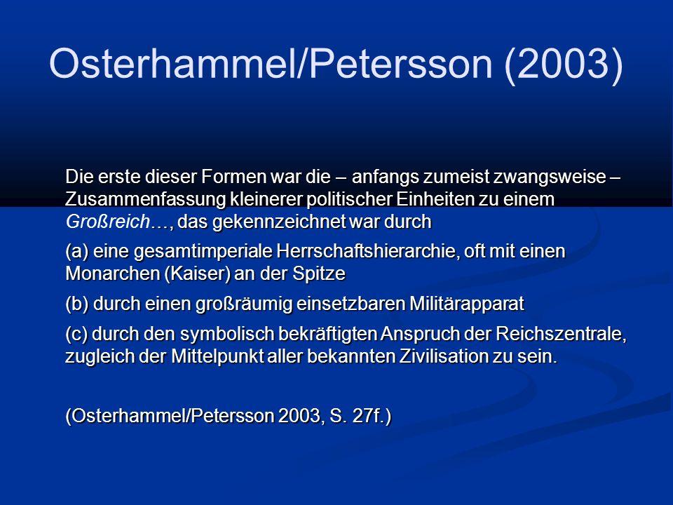 Osterhammel/Petersson (2003)