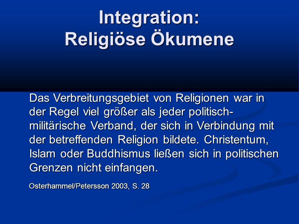 Integration: Religiöse Ökumene