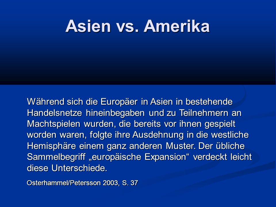 Asien vs. Amerika