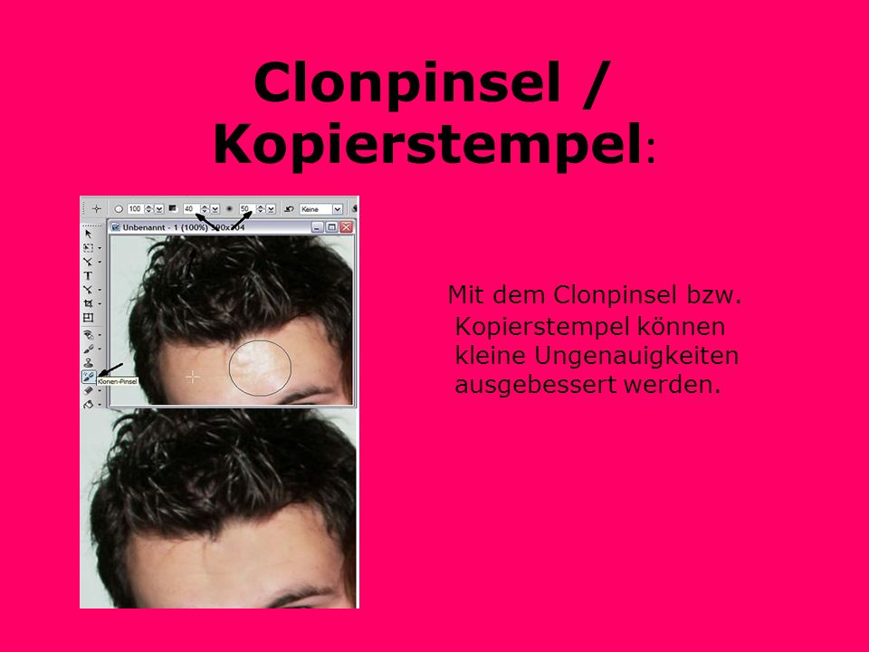 Clonpinsel / Kopierstempel: