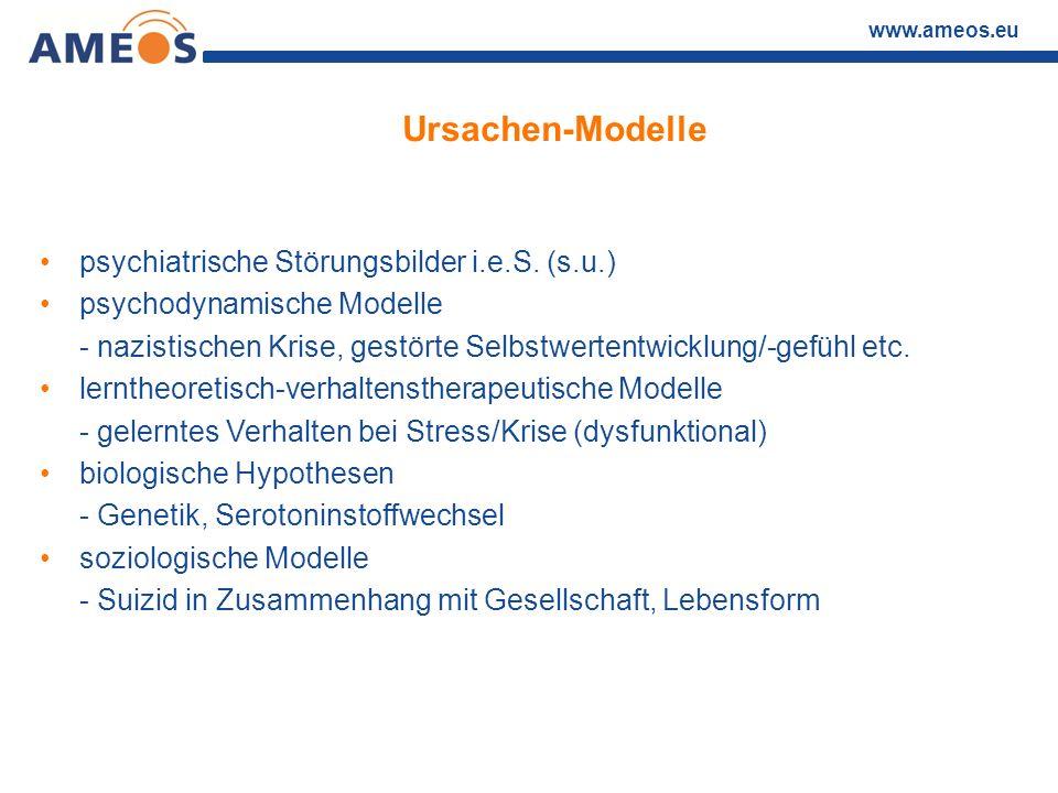 Ursachen-Modelle psychiatrische Störungsbilder i.e.S. (s.u.)