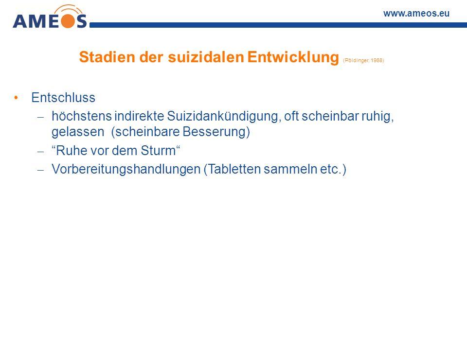 Stadien der suizidalen Entwicklung (Pöldinger, 1968)