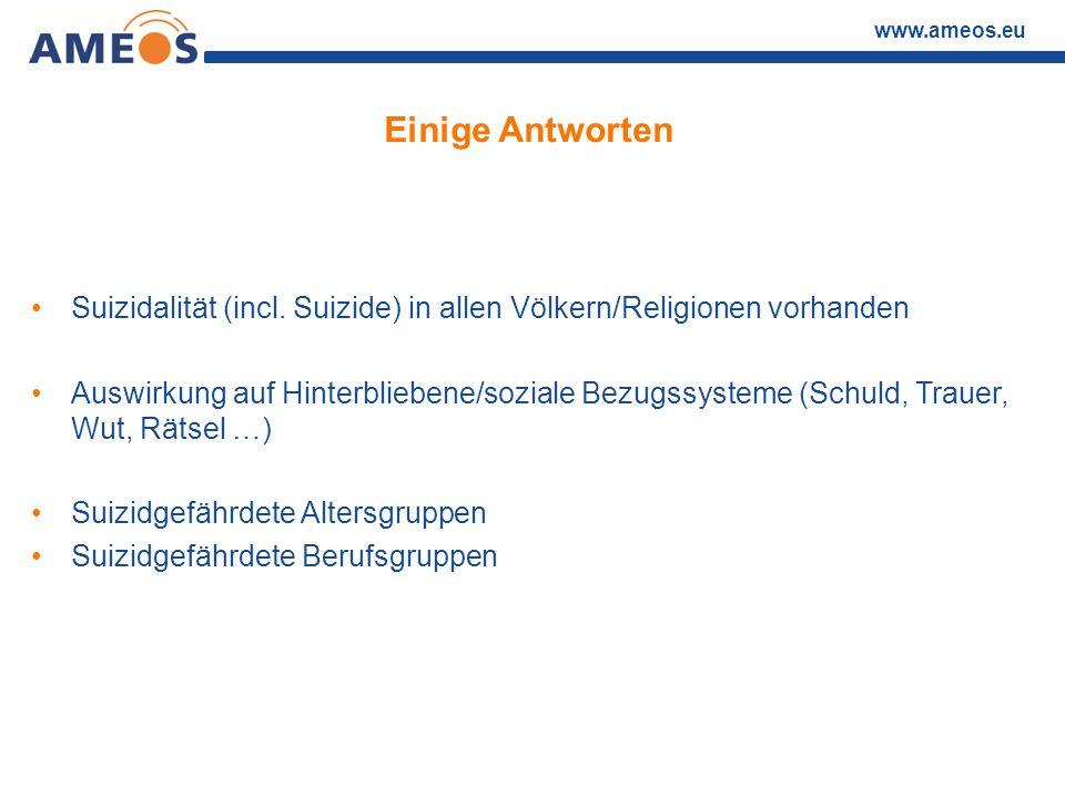 Einige Antworten Suizidalität (incl. Suizide) in allen Völkern/Religionen vorhanden.