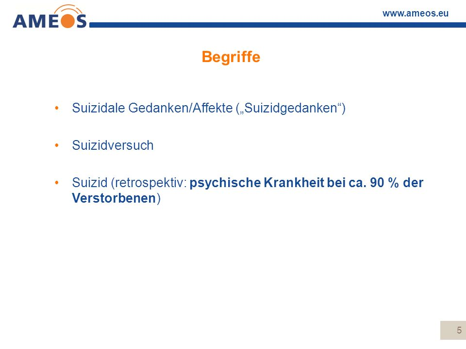 """Begriffe Suizidale Gedanken/Affekte (""""Suizidgedanken ) Suizidversuch"""