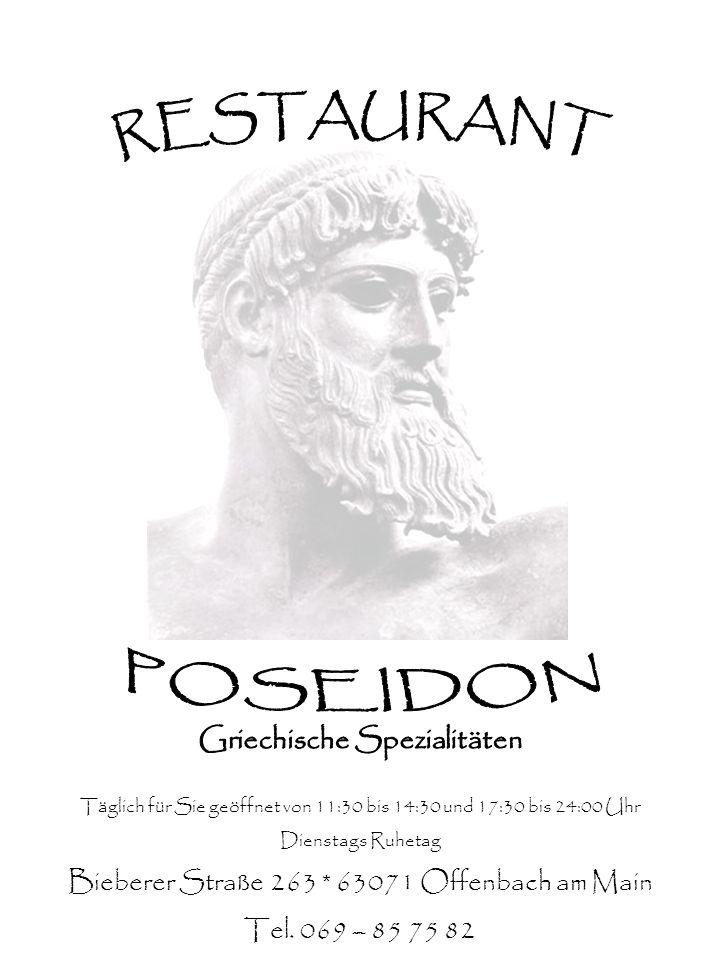 RESTAURANT POSEIDON Griechische Spezialitäten