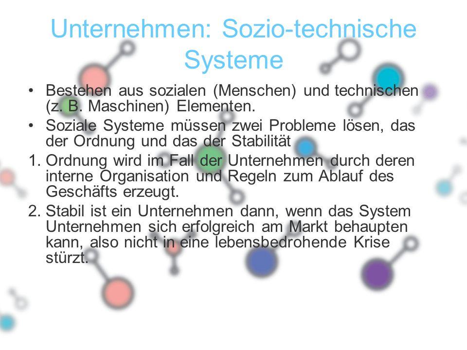 Unternehmen: Sozio-technische Systeme