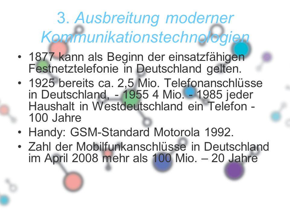 3. Ausbreitung moderner Kommunikationstechnologien