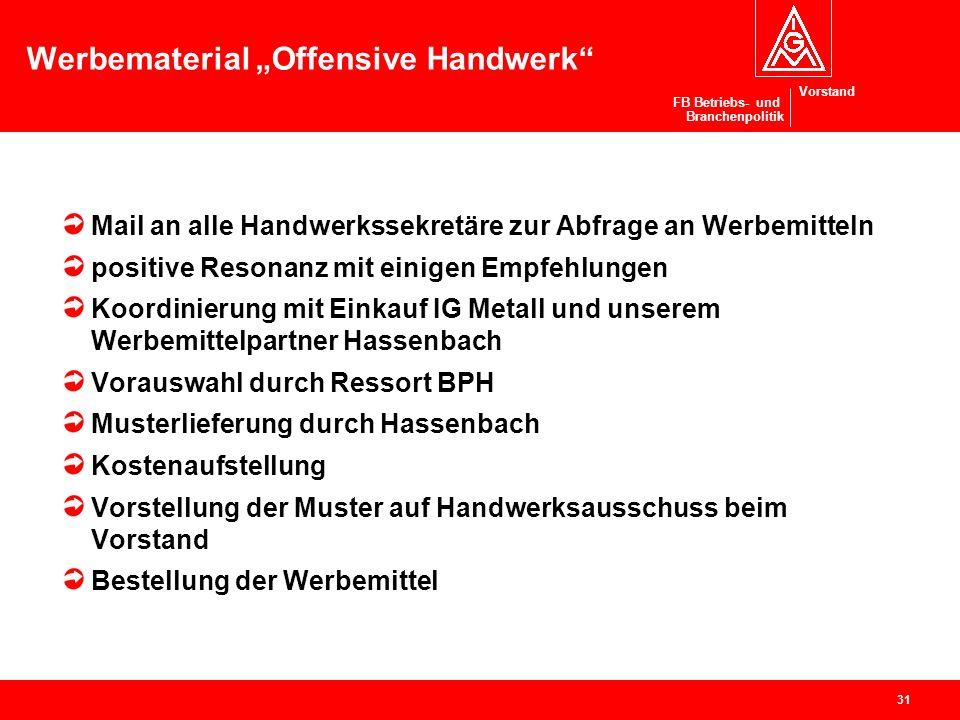 "Werbematerial ""Offensive Handwerk"