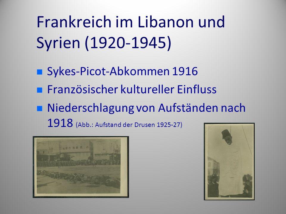 Frankreich im Libanon und Syrien (1920-1945)