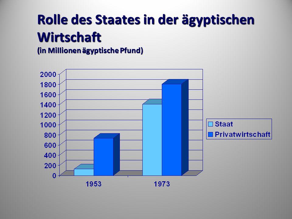 Rolle des Staates in der ägyptischen Wirtschaft (in Millionen ägyptische Pfund)