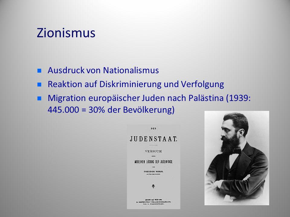 Zionismus Ausdruck von Nationalismus