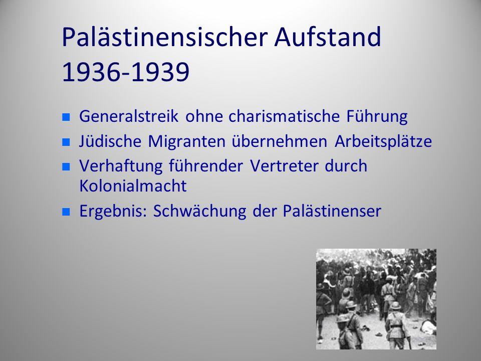 Palästinensischer Aufstand 1936-1939