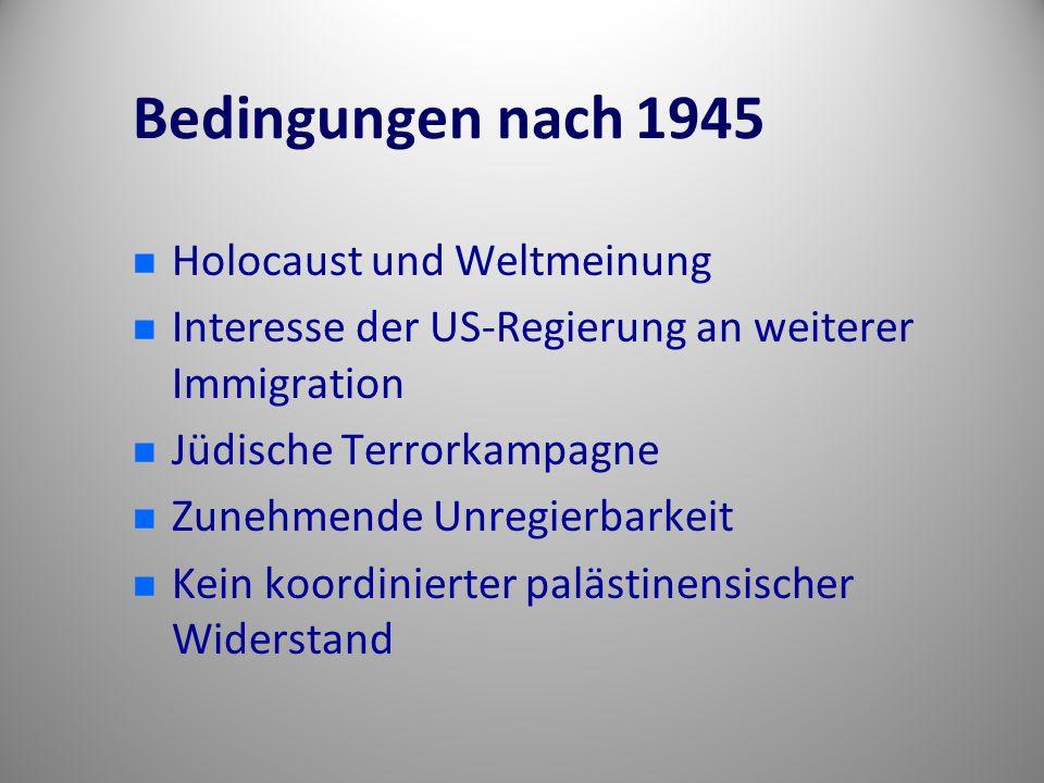 Bedingungen nach 1945 Holocaust und Weltmeinung
