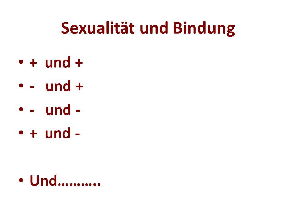 Sexualität und Bindung