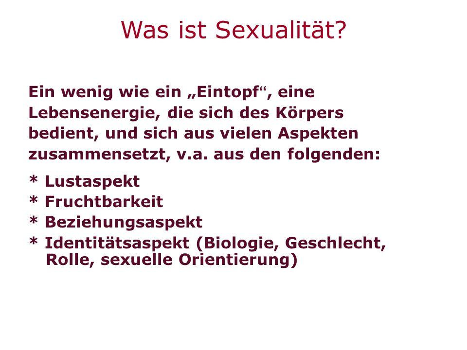 """Was ist Sexualität Ein wenig wie ein """"Eintopf , eine"""