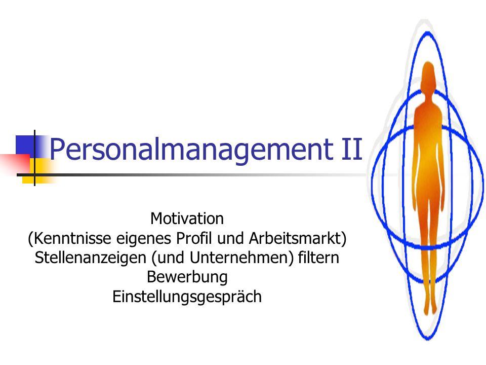 Personalmanagement II