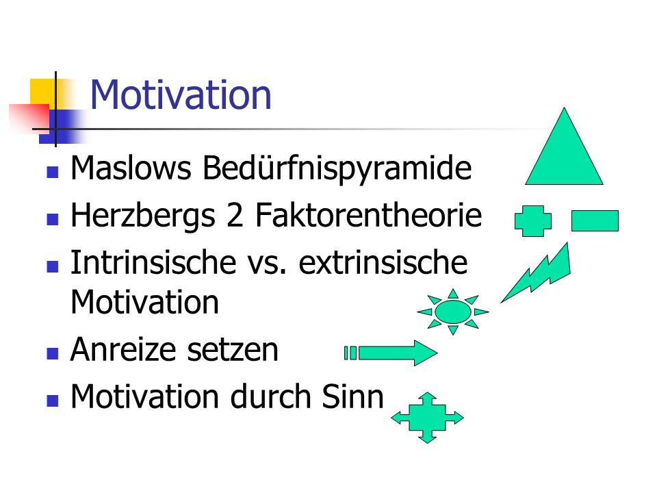 Motivation Maslows Bedürfnispyramide Herzbergs 2 Faktorentheorie