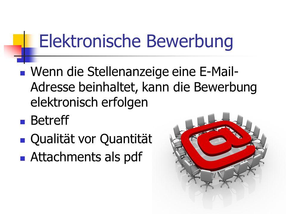 Elektronische Bewerbung