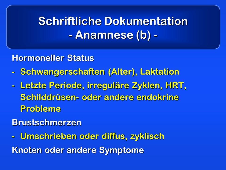 Schriftliche Dokumentation - Anamnese (b) -