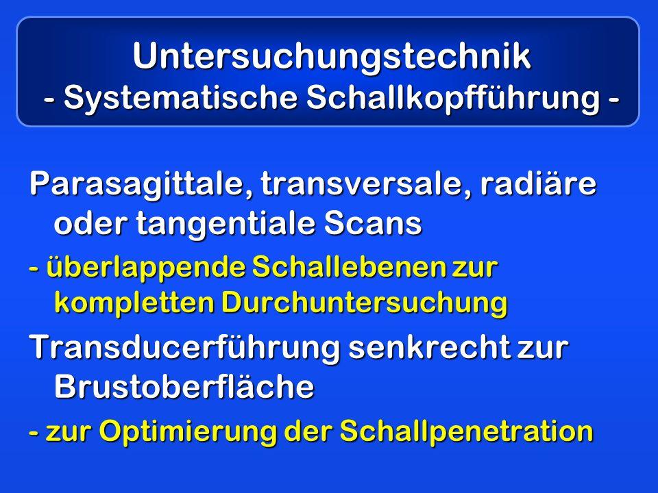 Untersuchungstechnik - Systematische Schallkopfführung -