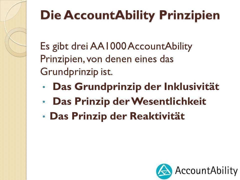 Die AccountAbility Prinzipien