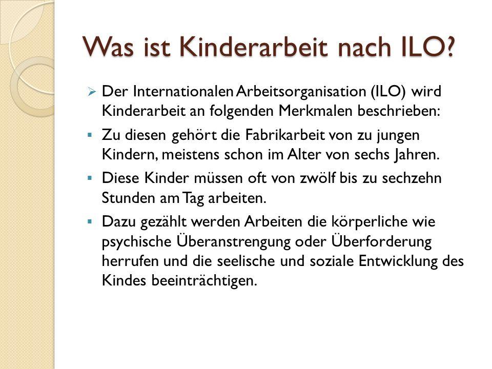 Was ist Kinderarbeit nach ILO