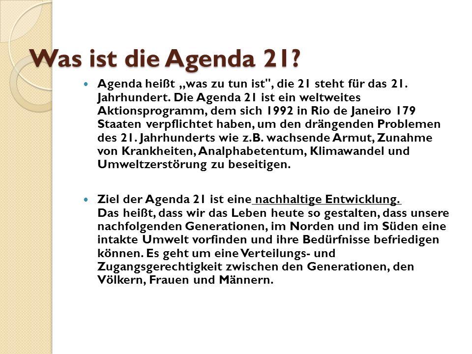 Was ist die Agenda 21