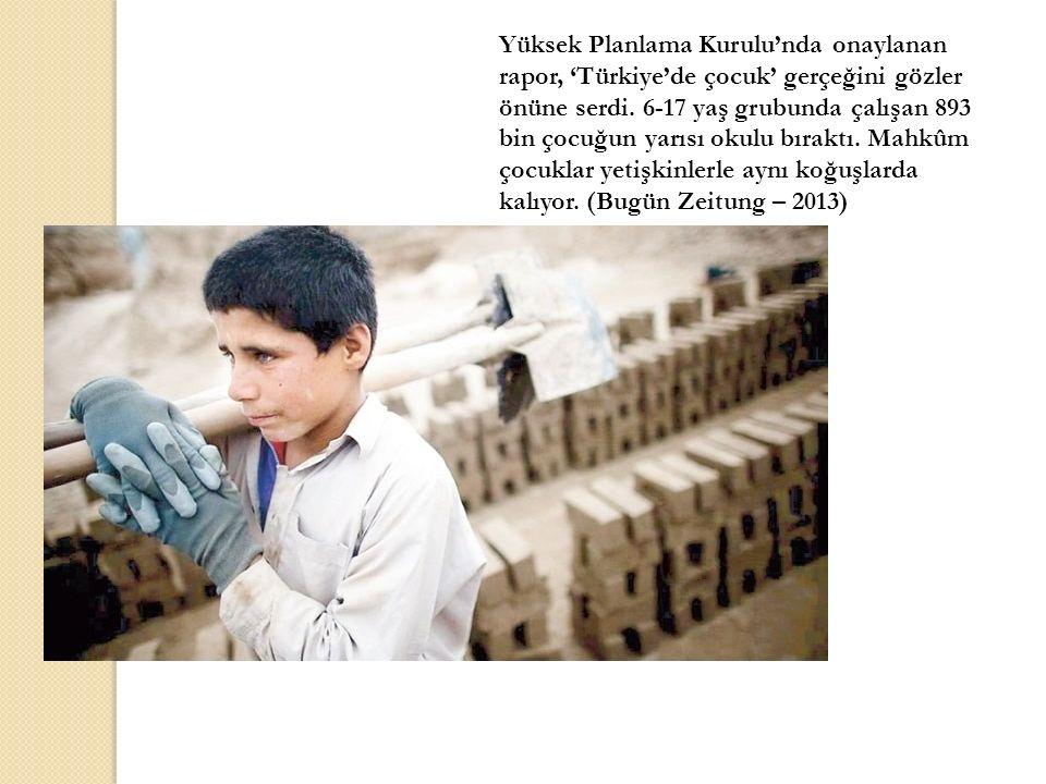 Yüksek Planlama Kurulu'nda onaylanan rapor, 'Türkiye'de çocuk' gerçeğini gözler önüne serdi.
