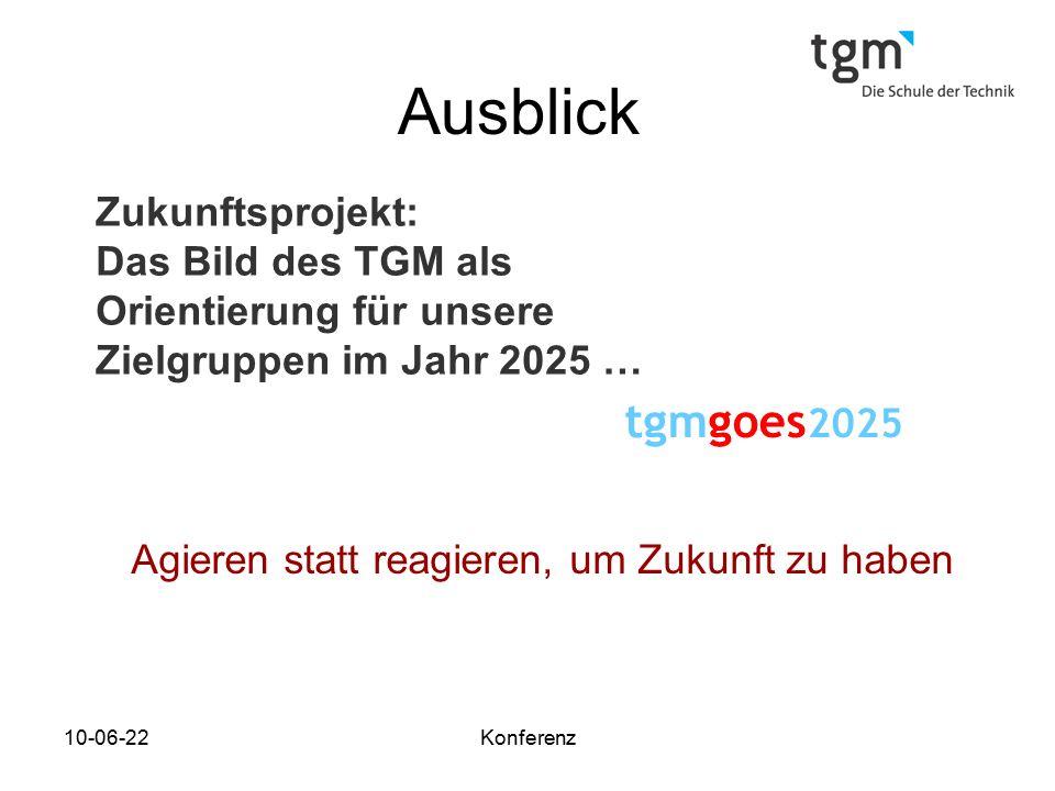 Ausblick tgmgoes2025 Zukunftsprojekt: Das Bild des TGM als