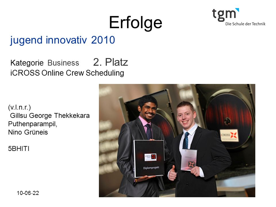 Erfolge jugend innovativ 2010