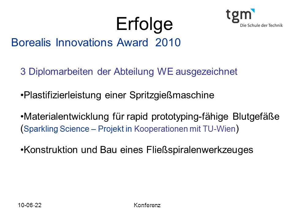 Erfolge Borealis Innovations Award 2010