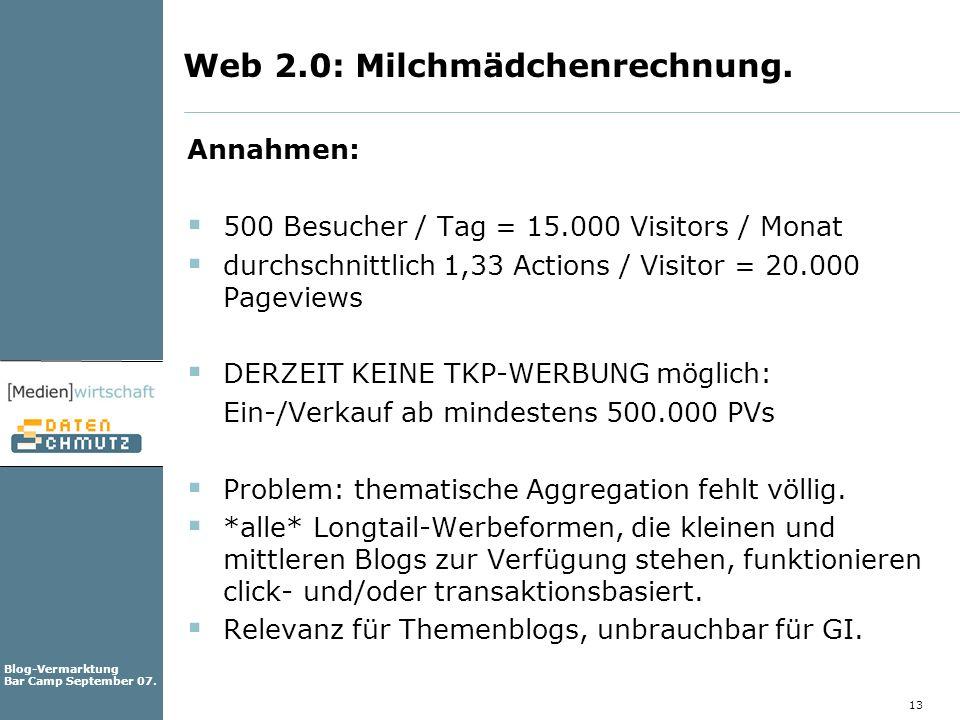 Web 2.0: Milchmädchenrechnung.