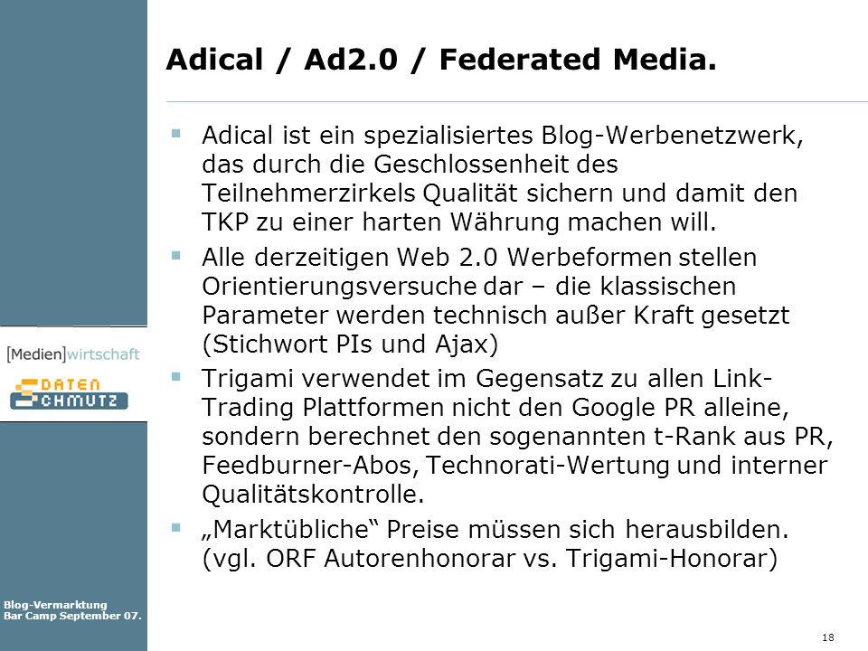Adical / Ad2.0 / Federated Media.