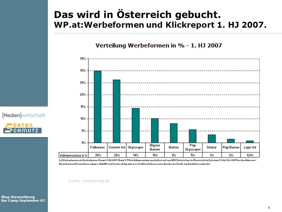 Das wird in Österreich gebucht. WP. at:Werbeformen und Klickreport 1