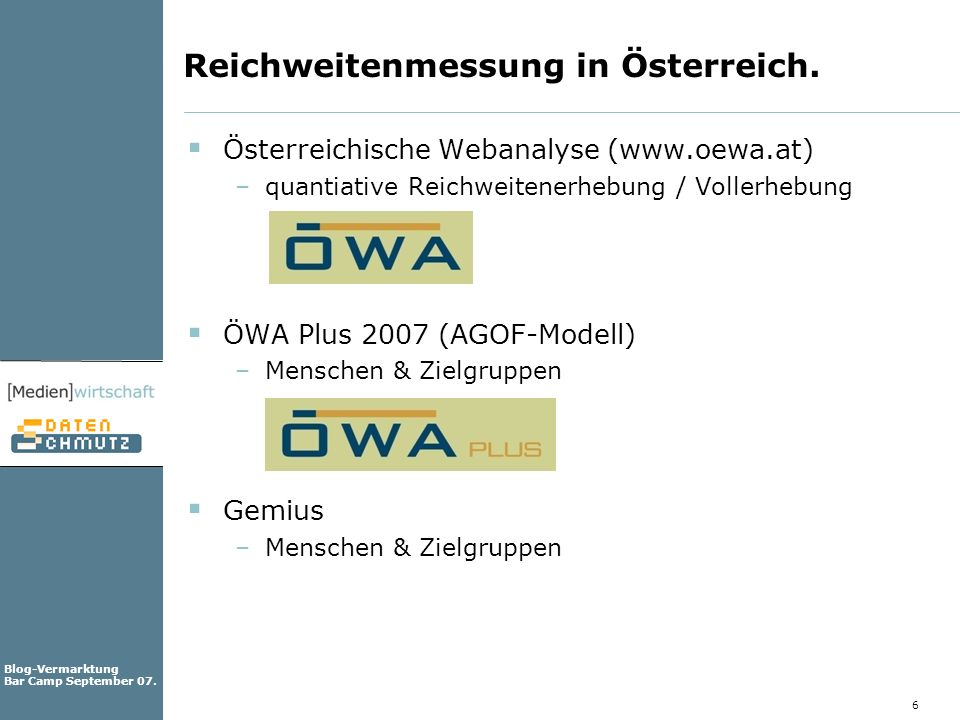 Reichweitenmessung in Österreich.