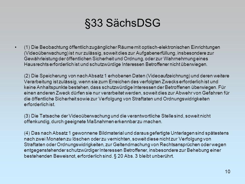§33 SächsDSG
