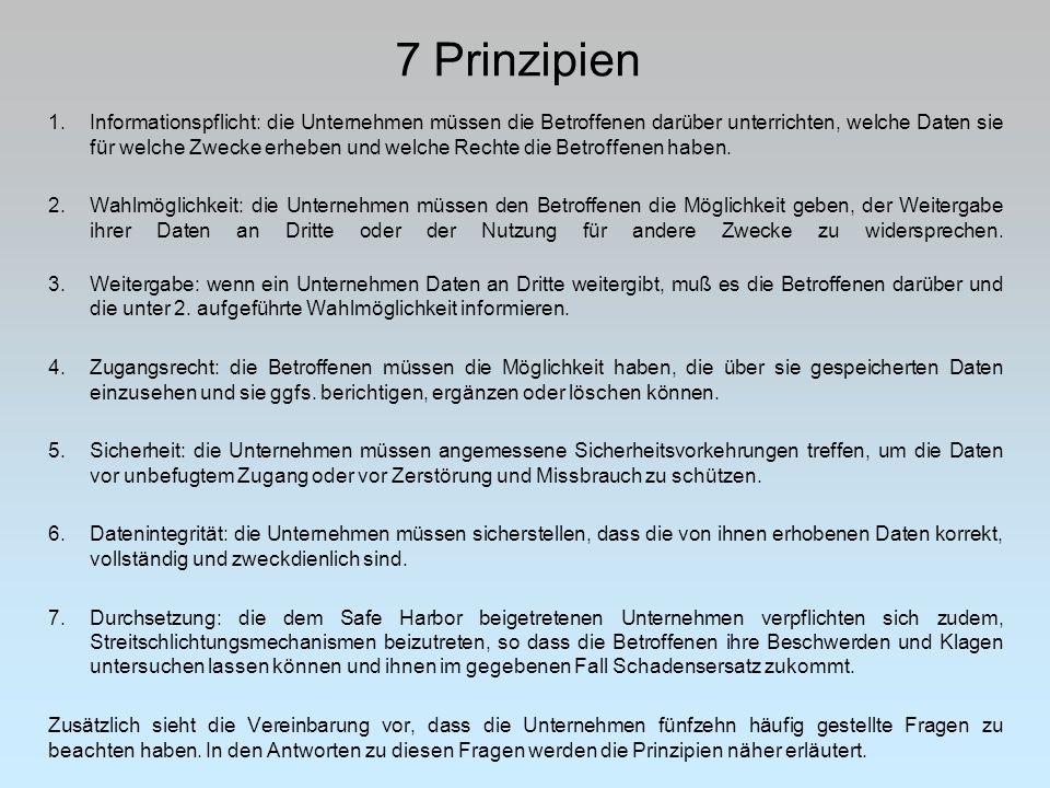 7 Prinzipien