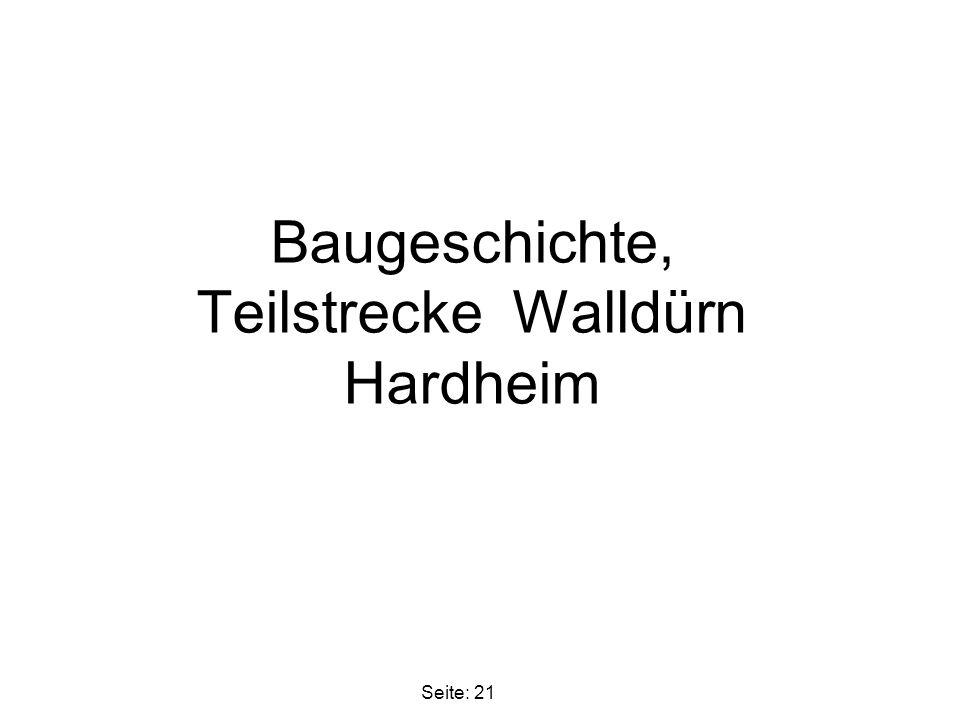 Baugeschichte, Teilstrecke Walldürn Hardheim