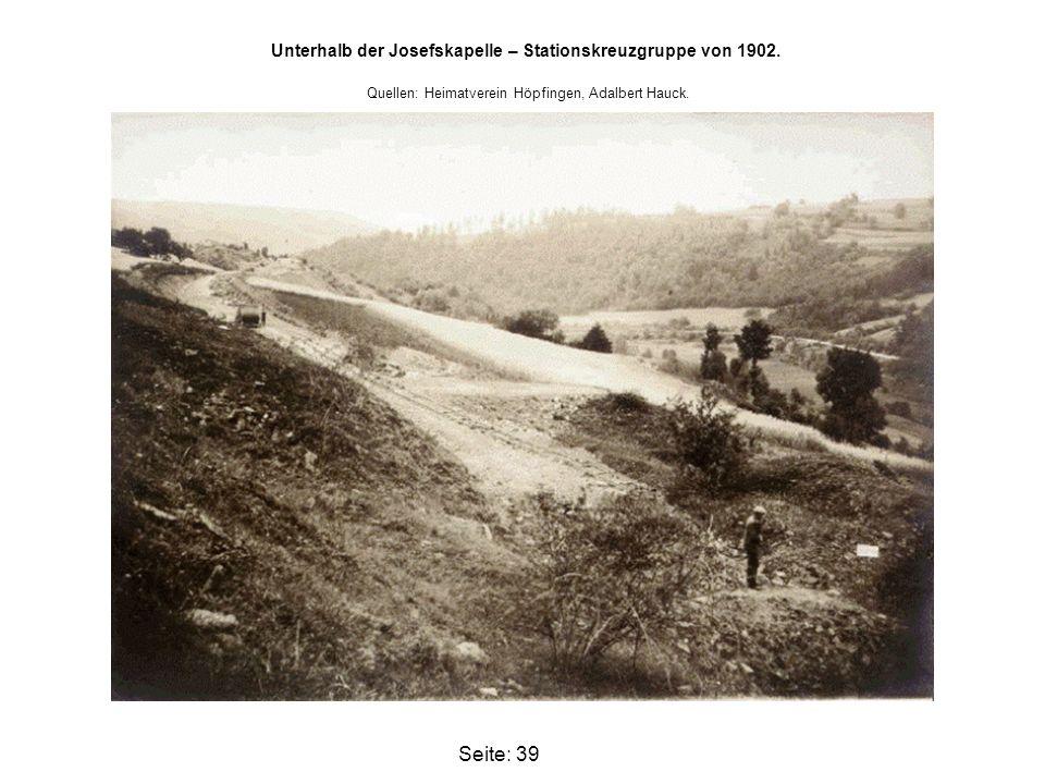 Unterhalb der Josefskapelle – Stationskreuzgruppe von 1902