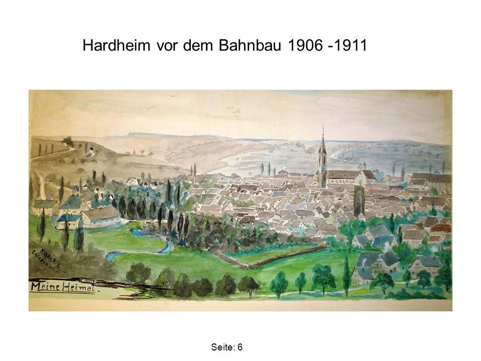 Hardheim vor dem Bahnbau 1906 -1911