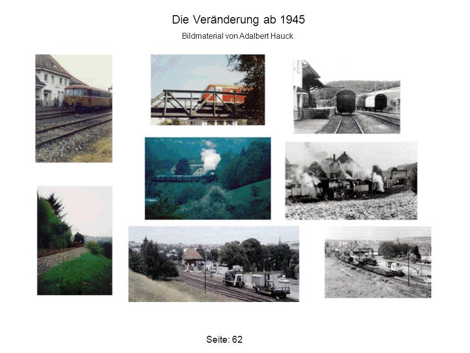 Bildmaterial von Adalbert Hauck.
