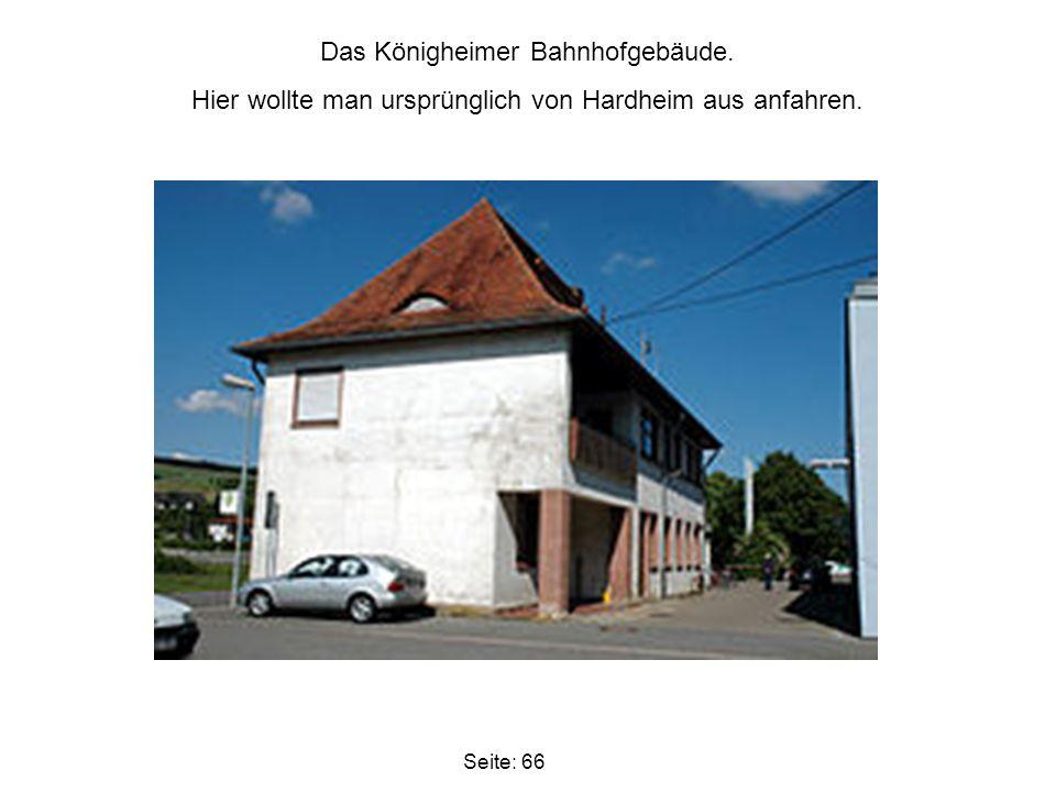 Das Königheimer Bahnhofgebäude.