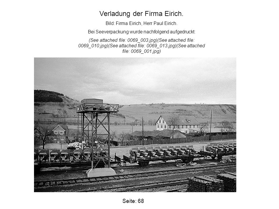 Verladung der Firma Eirich.