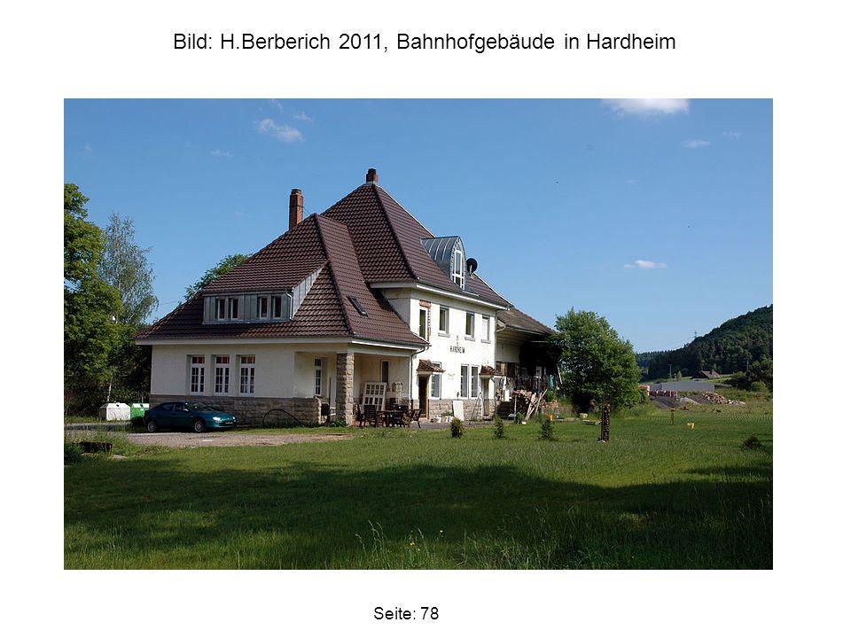 Bild: H.Berberich 2011, Bahnhofgebäude in Hardheim