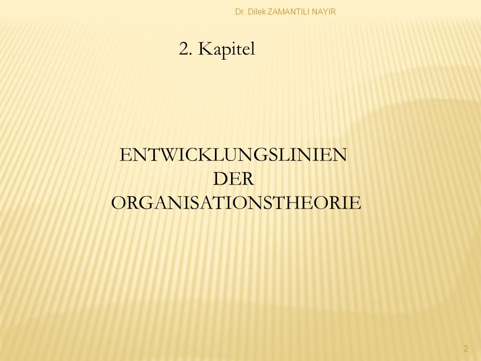 ORGANISATIONSTHEORIE