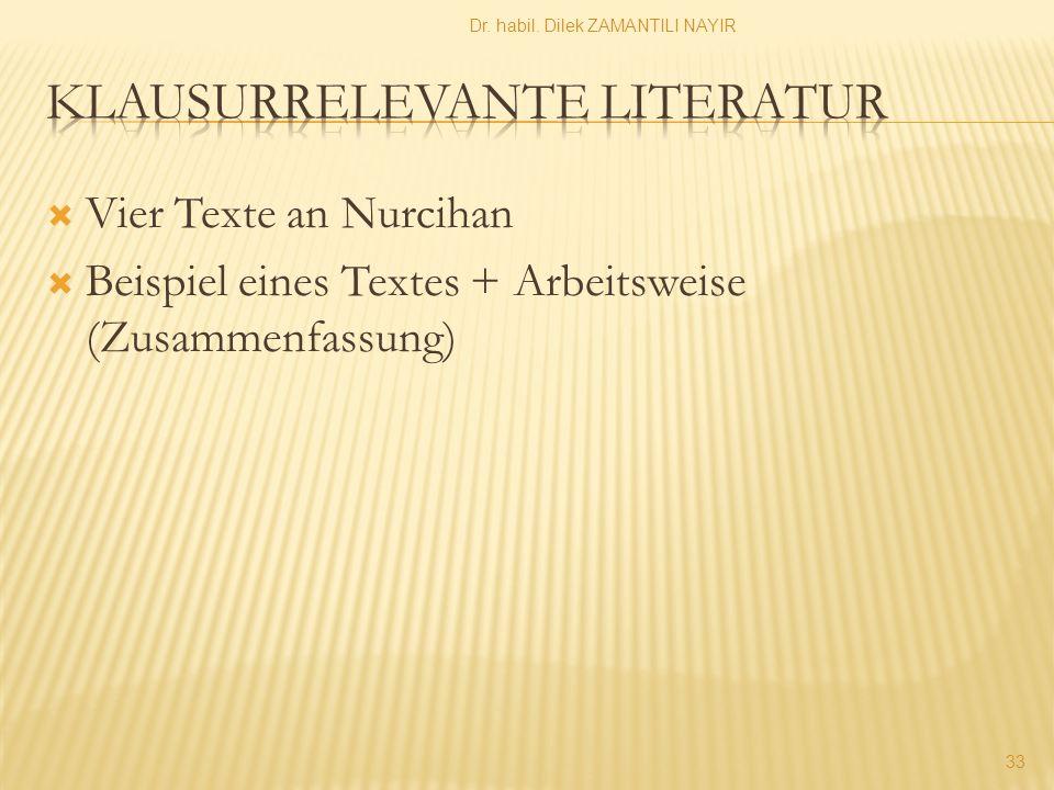 Klausurrelevante Literatur