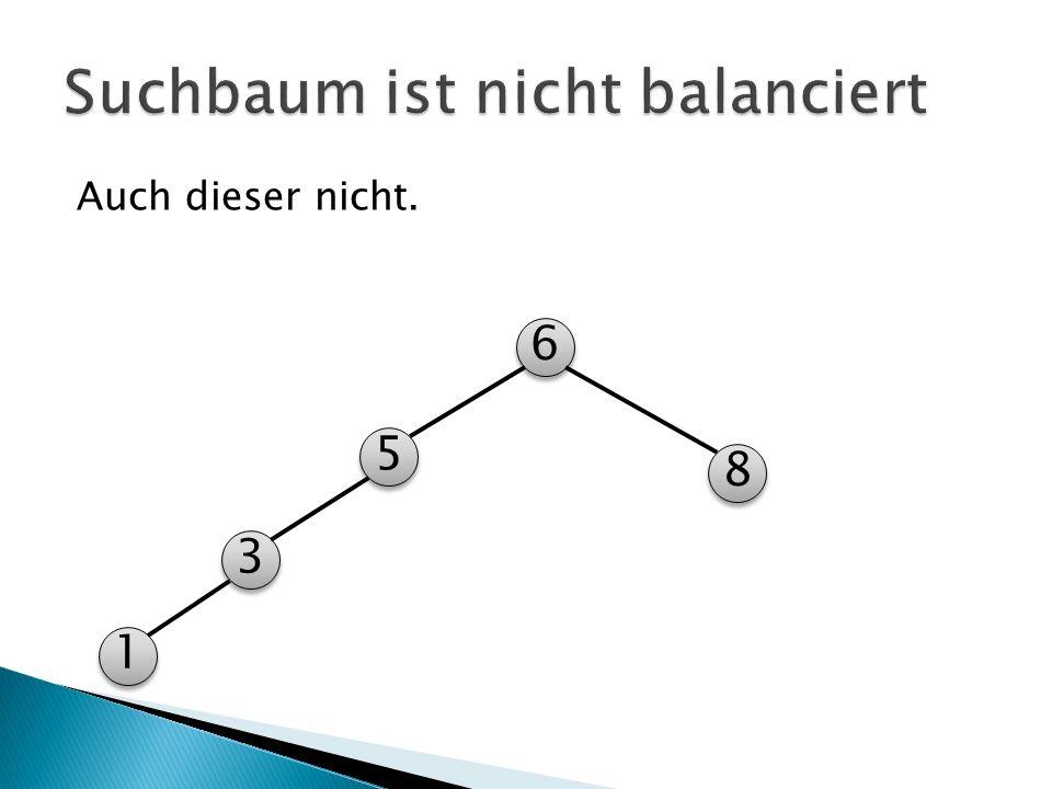 Suchbaum ist nicht balanciert