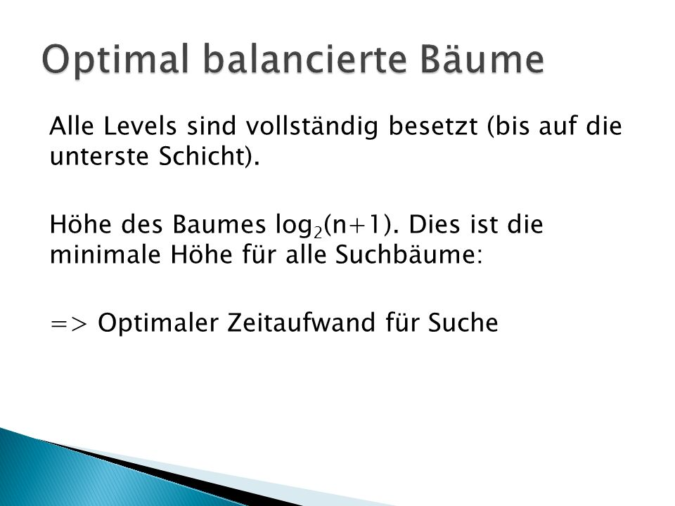 Optimal balancierte Bäume