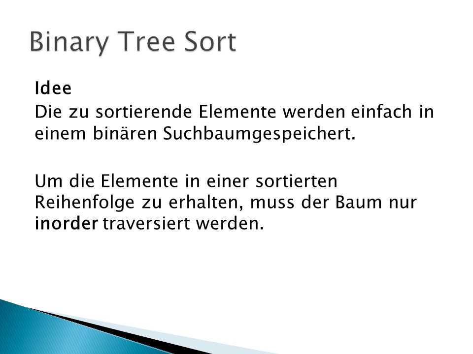 Binary Tree Sort