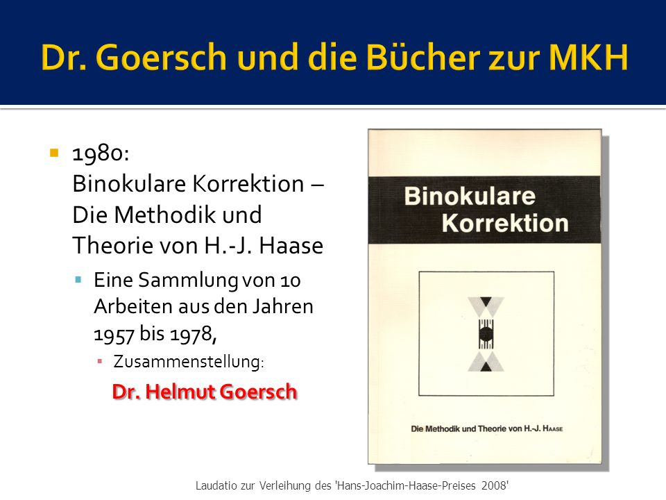Dr. Goersch und die Bücher zur MKH